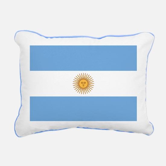 Argentinian Flag Rectangular Canvas Pillow