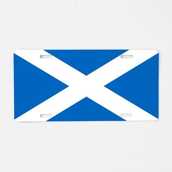Scottish Flag Aluminum License Plate
