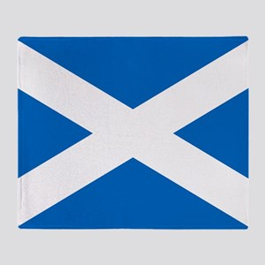 Scottish Flag Throw Blanket
