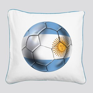 Argentina Football Square Canvas Pillow