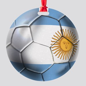 Argentina Football Round Ornament