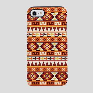 Autumnal Colors Aztec Pattern iPhone 7 Tough Case