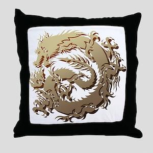Tr-dragon 4 Throw Pillow