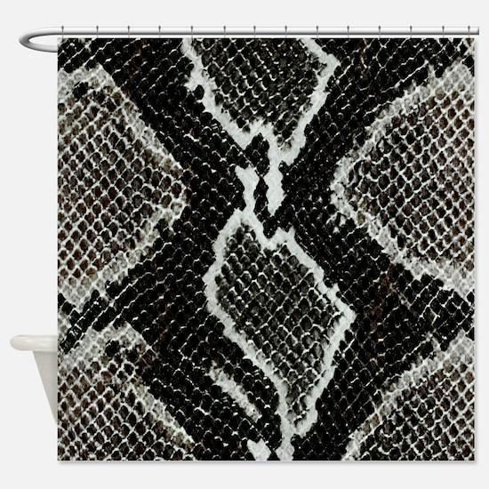 Real Snakeskin Shower Curtain