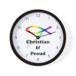 Christian & Proud Wall Clock