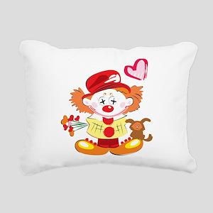 Love Clown Rectangular Canvas Pillow