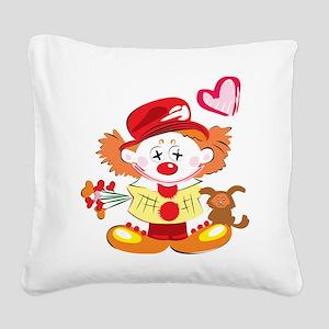 Love Clown Square Canvas Pillow