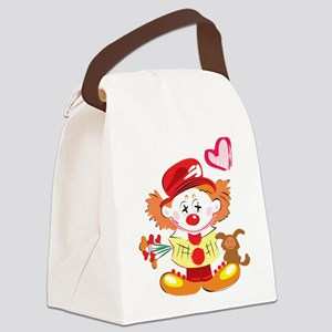 Love Clown Canvas Lunch Bag