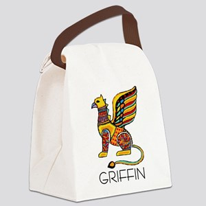 Colorful Griffin Canvas Lunch Bag