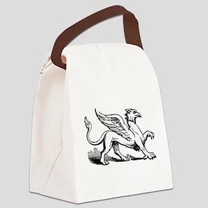 Griffin Illustration Canvas Lunch Bag