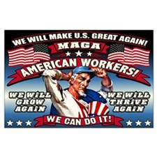 American Workers Large Poster