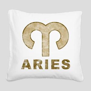 Vintage Aries Square Canvas Pillow