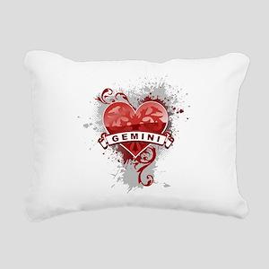 Heart Gemini Rectangular Canvas Pillow