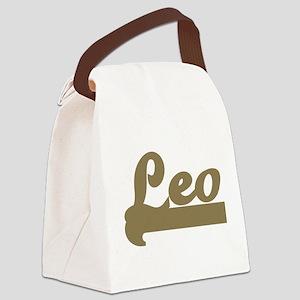 Retro Leo Canvas Lunch Bag
