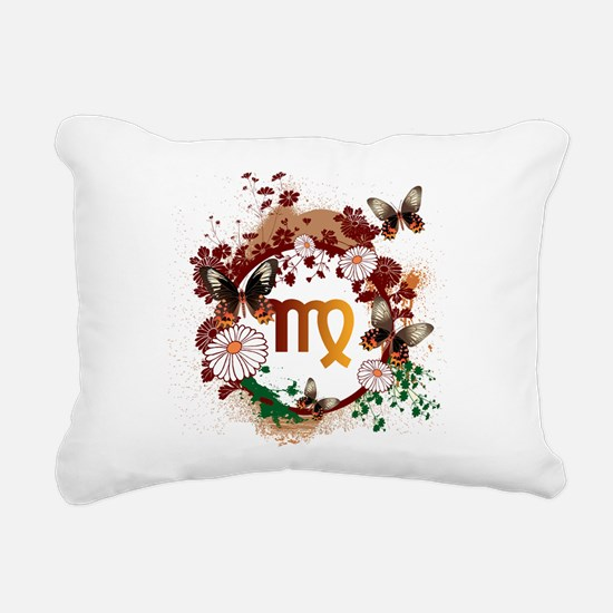 Psychedelic Virgo Rectangular Canvas Pillow
