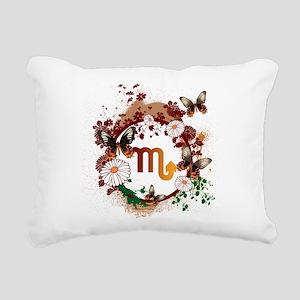 Psychedelic Scorpio Rectangular Canvas Pillow
