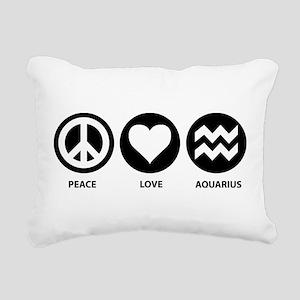 Peace Love Aquarius Rectangular Canvas Pillow