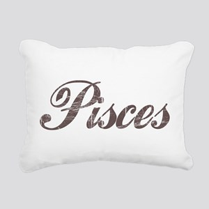 Vintage Pisces Rectangular Canvas Pillow