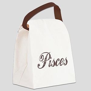 Vintage Pisces Canvas Lunch Bag