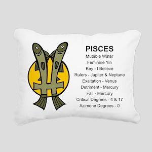 Astrology Pisces Rectangular Canvas Pillow