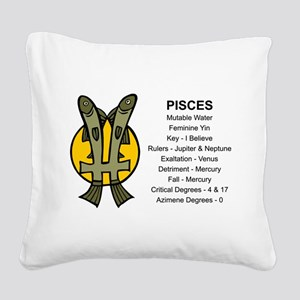 Astrology Pisces Square Canvas Pillow
