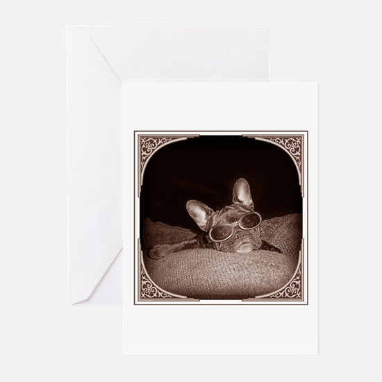 Framed Frenchie Greeting Cards (Pk of 10)