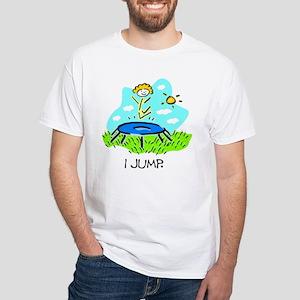 I Jump White T-Shirt