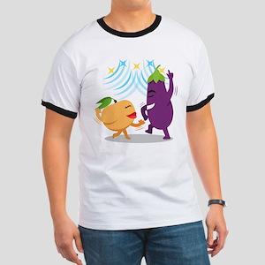 Emoji Eggplant Peach Dancing Ringer T