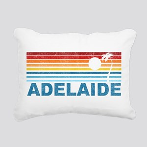 Retro Adelaide Palm Tree Rectangular Canvas Pillow