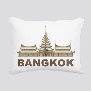 Vintage Bangkok Temple Rectangular Canvas Pillow