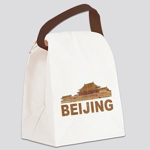 Vintage Beijing Canvas Lunch Bag