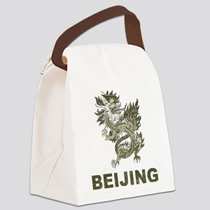 Vintage Dragon Beijing Canvas Lunch Bag