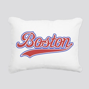 Retro Boston Rectangular Canvas Pillow