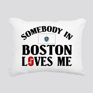 Somebody In Boston Rectangular Canvas Pillow