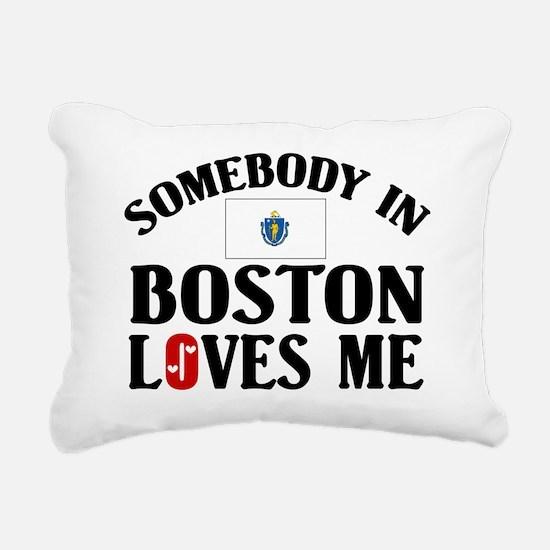 Somebody In Boston Rectangular Canvas Pillow