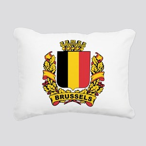 Stylized Brussels Crest Rectangular Canvas Pillow