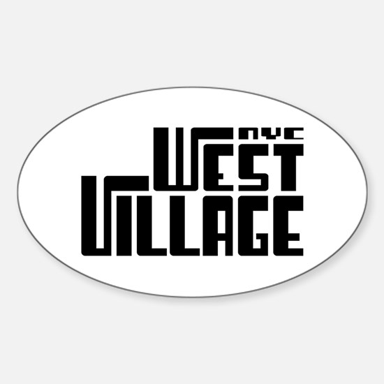 West Village NYC Oval Decal
