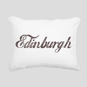 Vintage Edinburgh Rectangular Canvas Pillow