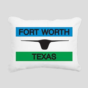 Fort Worth Flag Rectangular Canvas Pillow
