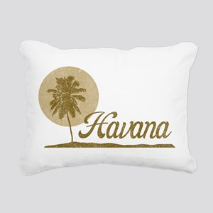 Palm Tree Havana Rectangular Canvas Pillow
