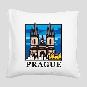 Prague Square Canvas Pillow