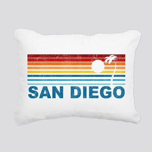 Palm Tree San Diego Rectangular Canvas Pillow
