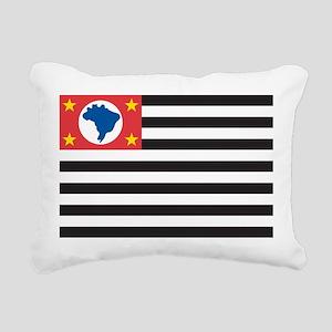 Sao Paulo Flag Rectangular Canvas Pillow
