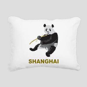 Shanghai Panda Rectangular Canvas Pillow