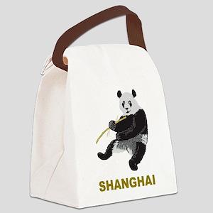Shanghai Panda Canvas Lunch Bag