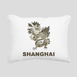 Vintage Shanghai Dragon Rectangular Canvas Pillow