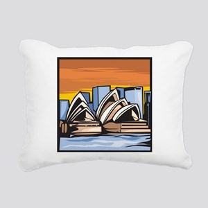 Sydney Opera House Rectangular Canvas Pillow