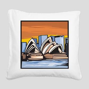 Sydney Opera House Square Canvas Pillow