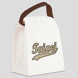 Retro Taipei Canvas Lunch Bag