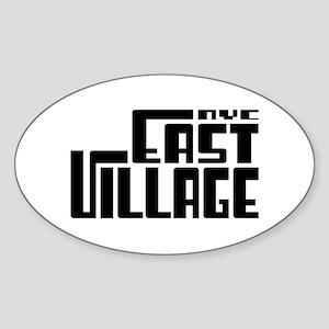 East Village NYC Oval Sticker
